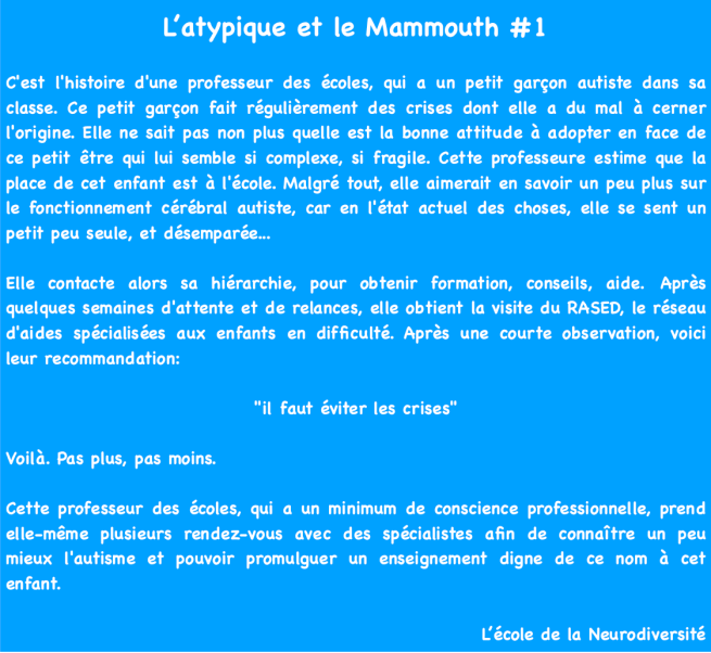 L'atypique et le Mammouth 1